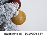 christmas tree decoration on... | Shutterstock . vector #1019006659
