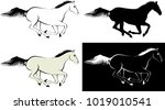 horse   clip art illustration...   Shutterstock .eps vector #1019010541