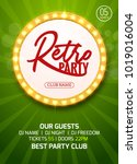 retro party poster design.... | Shutterstock .eps vector #1019016004