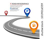 3d road infographic concept on... | Shutterstock .eps vector #1019016559