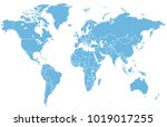 world map vector | Shutterstock .eps vector #1019017255