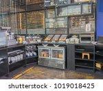 hotel breakfast buffet area ...   Shutterstock . vector #1019018425