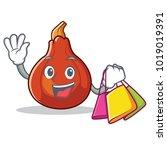 shopping red kuri squash...   Shutterstock .eps vector #1019019391