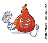 with megaphone red kuri squash... | Shutterstock .eps vector #1019020255