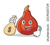 with money bag red kuri squash... | Shutterstock .eps vector #1019020729