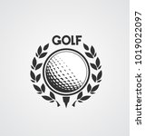 golf label. sign of golf... | Shutterstock .eps vector #1019022097