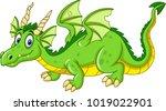 cartoon dragon isolated on... | Shutterstock .eps vector #1019022901