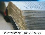 close up shot of the open book | Shutterstock . vector #1019025799