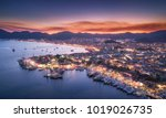 aerial view of boats and... | Shutterstock . vector #1019026735