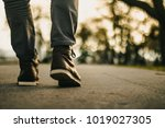 walk in urban city. close up... | Shutterstock . vector #1019027305