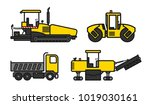 equipment for road construction | Shutterstock .eps vector #1019030161