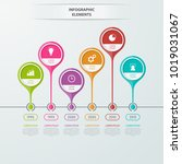 timeline infographics template...   Shutterstock .eps vector #1019031067