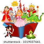 imagination in a children fairy ... | Shutterstock .eps vector #1019037661