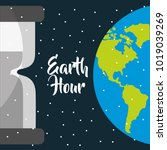 earth hour international event... | Shutterstock .eps vector #1019039269