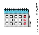 calendar reminder isolated icon   Shutterstock .eps vector #1019040775