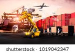 logistics and transportation of ... | Shutterstock . vector #1019042347
