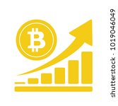 bitcoin growing graph icon | Shutterstock .eps vector #1019046049