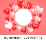 3d rendering heart. use as... | Shutterstock . vector #1019047441
