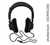 vector cartoon black... | Shutterstock .eps vector #1019051281