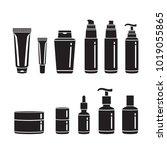 hair cosmetics packaging set ... | Shutterstock .eps vector #1019055865