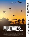 military vector illustration ... | Shutterstock .eps vector #1019057605