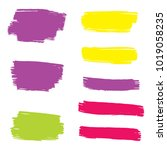 set of hand painted colorful... | Shutterstock .eps vector #1019058235