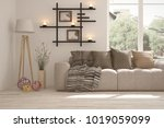 idea of white room with sofa...   Shutterstock . vector #1019059099