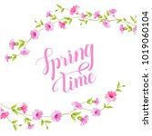 blossom card. spring time text... | Shutterstock .eps vector #1019060104