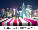 wood floor with blurred...   Shutterstock . vector #1019069731