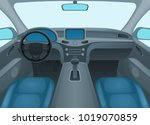 inside car or auto interior... | Shutterstock .eps vector #1019070859