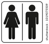 sign of gender male and female | Shutterstock .eps vector #1019075509