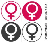 sign of gender male and female | Shutterstock .eps vector #1019075515