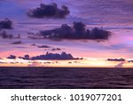 blue and orange sunset sky | Shutterstock . vector #1019077201