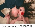 love story. young girl  cover... | Shutterstock . vector #1019080591