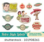vintage retro labels   editable ... | Shutterstock .eps vector #101908261