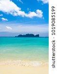 bright holidays lagoon... | Shutterstock . vector #1019085199