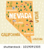 illustrated map of the state of ... | Shutterstock .eps vector #1019091505