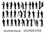 engineer silhouette vector for...