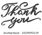 thank you text on white... | Shutterstock .eps vector #1019093119