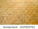 close up woven bamboo texture ... | Shutterstock . vector #1019093701