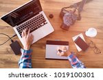 editor man working the editing... | Shutterstock . vector #1019100301