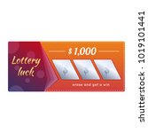 lottery ticket for drawing... | Shutterstock .eps vector #1019101441