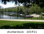 a summer camp  with pond and... | Shutterstock . vector #101911