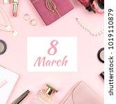 happy women's day background...   Shutterstock . vector #1019110879