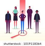 vector business illustration ... | Shutterstock .eps vector #1019118364
