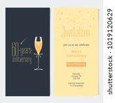 60 years anniversary invitation ... | Shutterstock .eps vector #1019120629