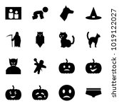origami style icon set   family ... | Shutterstock .eps vector #1019122027