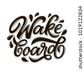 vector lettering logo wakeboard ...   Shutterstock .eps vector #1019122834