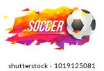 logo for soccer teams or... | Shutterstock .eps vector #1019125081
