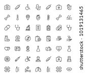 oncology icon set. collection... | Shutterstock .eps vector #1019131465